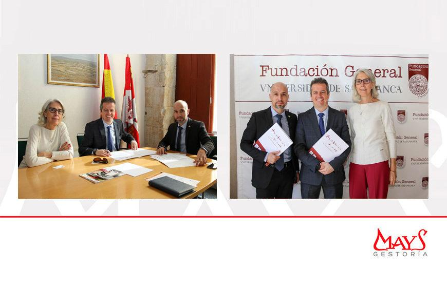 Gestoría Mays se integra en el grupo de Empresas Amigas de la Universidad de Salamanca